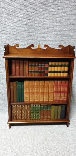 Small Adjustable Mahogany Bookcase (1 of 4)