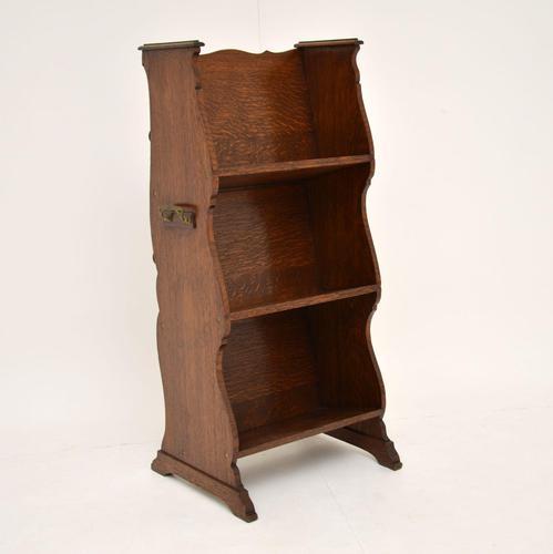 Antique Arts & Crafts Oak  Open  Bookcase (1 of 12)