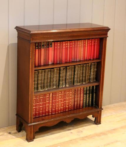 Edwardian Inlaid Mahogany Open Bookcase (1 of 8)