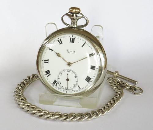 Antique Limit Pocket Watch & Chain (1 of 4)