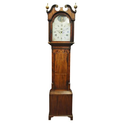 George III Inlaid Mahogany Longcase Clock by Charles Campbell, Boness (1 of 10)