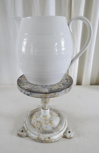 Ironstone China Banded Dairy Pitcher Early 20th Century (1 of 11)