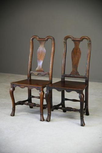 Near Pair of Queen Anne Style Side Chairs (1 of 12)