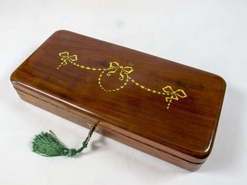 Early Victorian Mahogany Glove Box (1 of 4)