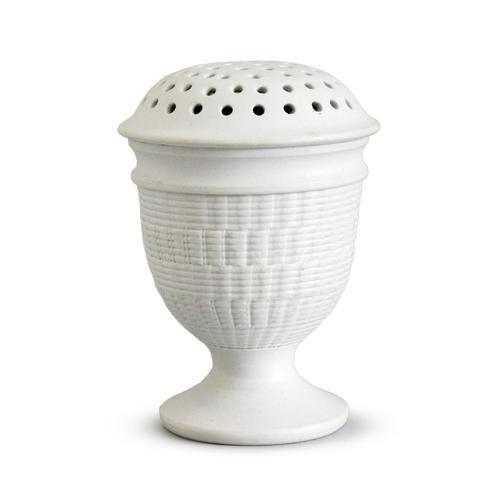 Wedgwood Salt Glazed White Stoneware Pounce Pot c.1780 (1 of 10)