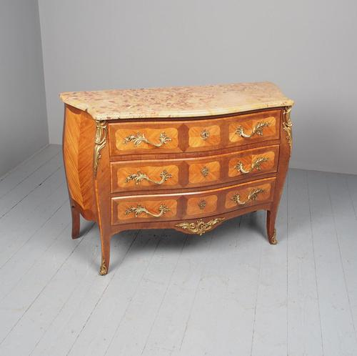 French Louis XV Style Marble Top Commode (1 of 13)