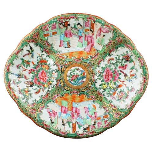 Chinese Canton Famille Rose Dish (1 of 4)