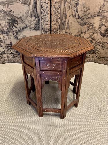 Early 20th Century Brass Inlaid Hoshiarpur Table (1 of 7)