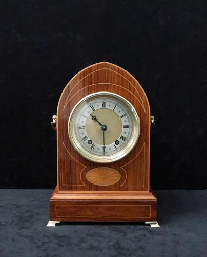 German Rosewood Ting Tang Mantel Clock by Winterhalder & Hofmeier (1 of 7)