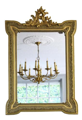 19th Century French Gilt Wall Mirror Overmantle Crest (1 of 9)