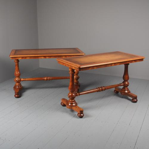 Pair of Victorian Satin Birch Library Tables (1 of 14)