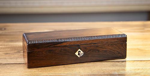William IV Rosewood Desk Box 1830 (1 of 8)