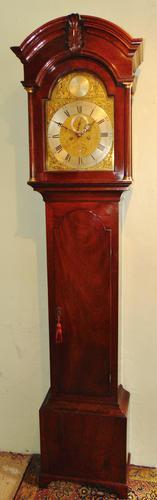 Scottish Georgian Cuban Mahogany Longcase Clock (1 of 10)