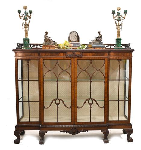 Antique Chippendale China Cabinet Mahogany Antique c.1910 (1 of 15)