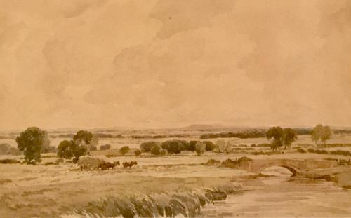 Percy Lancaster Watercolour 'Loading the Hay' (1 of 3)