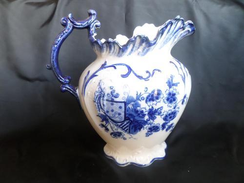 Wash Jug c1890 Blue/White (1 of 5)
