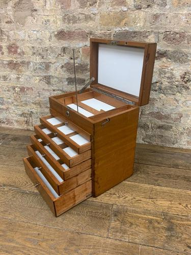 Mahogany Dentist Cabinet with Chrome Handle (1 of 9)