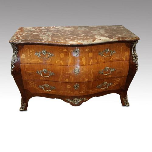 Continental Marquetry Bombe Commode Chest (1 of 14)