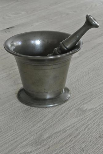 Good English Early 19th Century Bronze Mortar & Pestle (1 of 6)