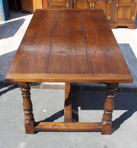 1960's Heavy Oak Refectory Table (1 of 6)