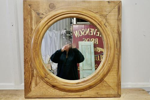 Large Stripped Pine Wall Mirror (1 of 6)
