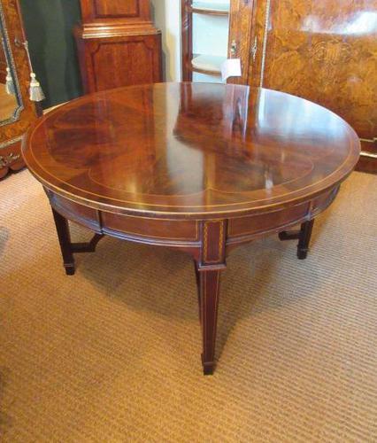 Fine Antique Figured Mahogany  'Sunburst Top' Coffee Table (1 of 6)