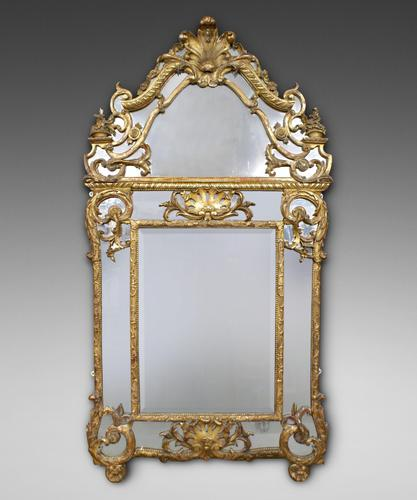 Very Large 19th Century French Gilt Frame Mirror (1 of 1)