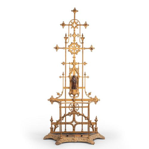 Complex Mid 19th Century Cast Iron Hall / Stick Stand (1 of 8)