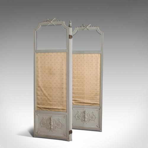 Antique Dressing Screen, Italian, Mahogany, Privacy, Room Divider, Victorian (1 of 12)