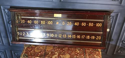 Edwardian Snooker Scoreboard (1 of 4)