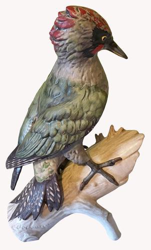 A Porcelain Green Woodpecker by Goebel of Germany (1 of 6)