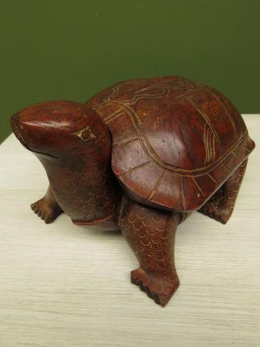 Antique Carved Wooden Tortoise Box (1 of 13)