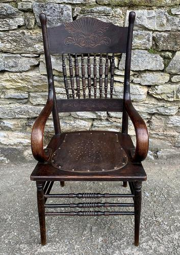 Antique American Armchair with Steamed Bentwood Arms (1 of 14)