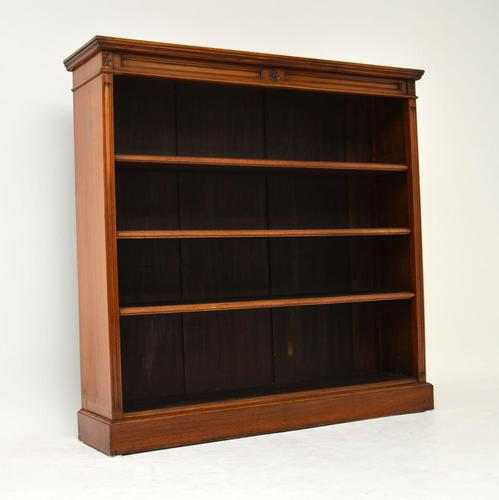 Antique Victorian Walnut Open Bookcase (1 of 11)