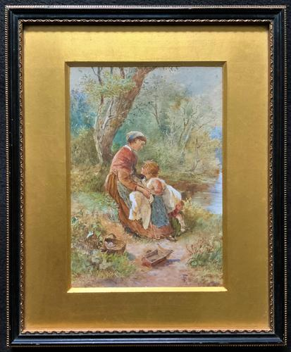 Myles Birket Foster RWS Exceptional Watercolour Portrait Painting (1 of 13)