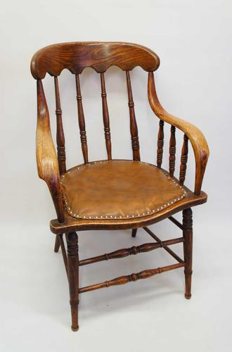 Edwardian Oak Bentwood Office Chair (1 of 11)