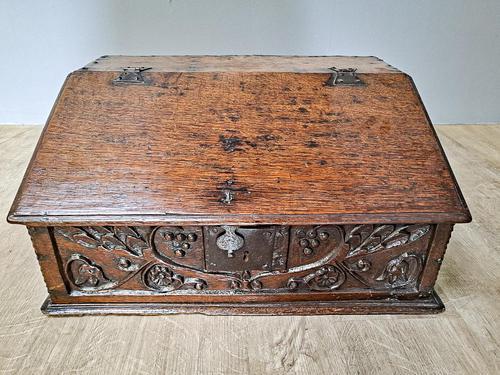 17th Century Oak Deed Box (1 of 4)