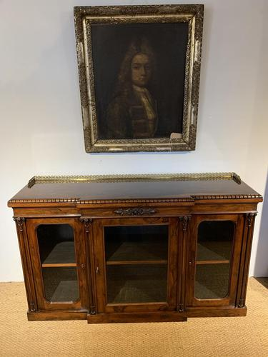 Rosewood Breakfront Bookcase (1 of 15)