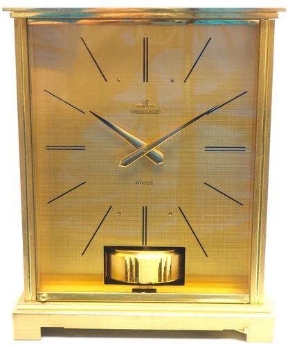Rare 1960's Jaeger Lecoultre Atmos Mantel Clock – Swiss Made Model VII Red 1967 (1 of 13)