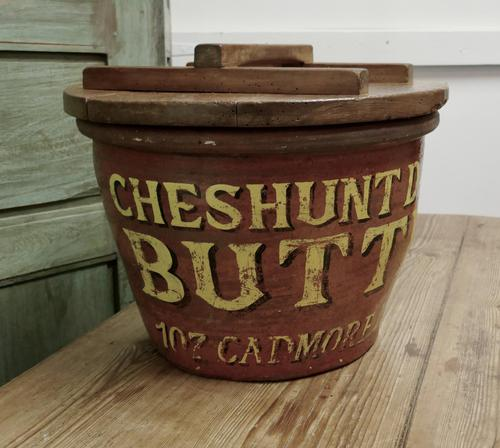 Victorian Earthenware Cream Crock with Pine Lid (1 of 6)