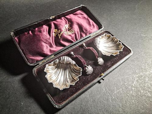 Cased Pair of Victorian Silver Salts (1 of 5)