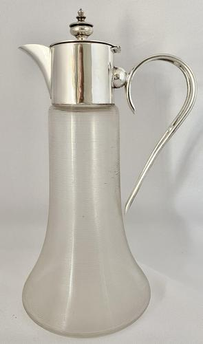 Unusual Claret Jug with Silver Plated Mount (1 of 7)