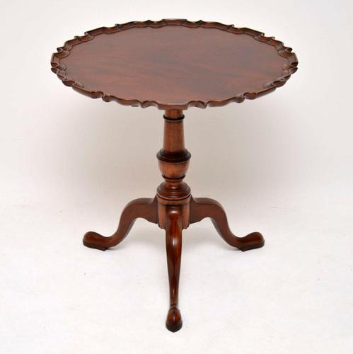 Chippendale Style Mahogany Tilt Top Table c.1930 (1 of 8)