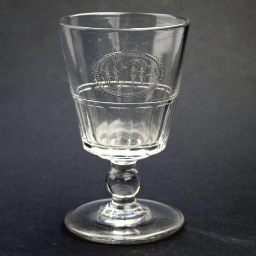 Good Regency Bucket Bowl Monogrammed Cut Glass Rummer c.1820 (1 of 6)