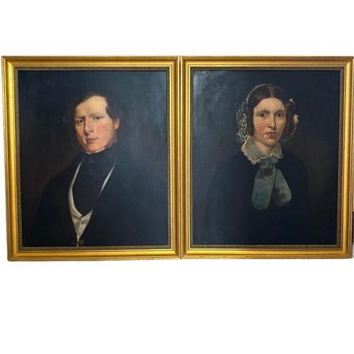 Pair of Victorian Oil Portraits (1 of 6)