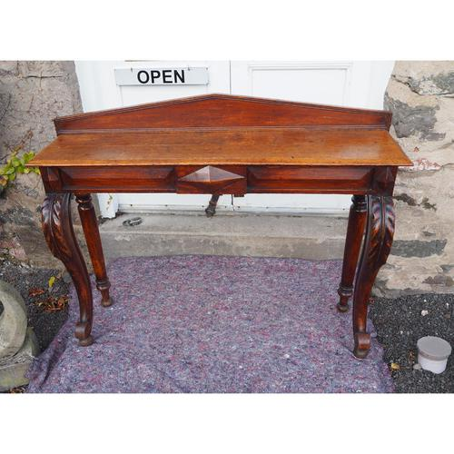 Narrow Scottish Oak Console Hall Table (1 of 7)