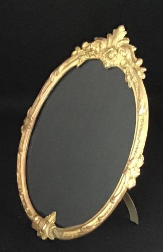 Victorian Gilt Brass Oval Easel Photo Frame (1 of 4)