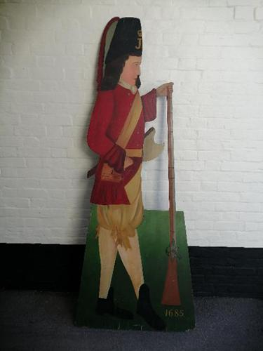 Dummy Board of Soldier in 17th Century Uniform (1 of 10)