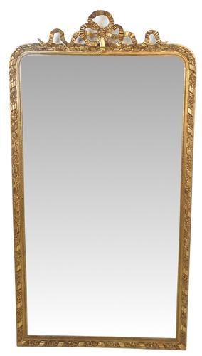 19th Century Gilt Framed Tall Hall or Pier Mirror (1 of 2)