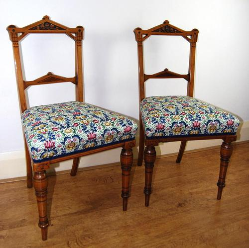 Pair of Aesthetic Period Side Chairs (1 of 9)